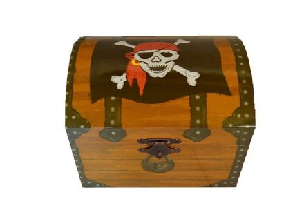 Children's Pirate Treasure Chest Musical Box 22180